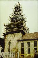 eine Schieferarbeit vom Holzgerüst 1979