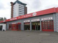 eine neue Außenhülle in Hamburg Billstraße, Sinuswelle quer verlegt in weißaluminium